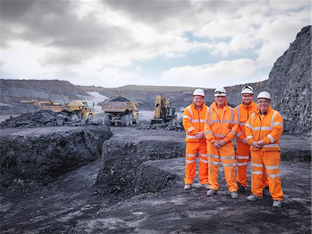 people working coal mines - Portrait of digger drivers in surface coal mine Stock Photo - Premium Royalty-Free, Code: 649-07520530