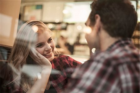 Young couple in cafe Stock Photo - Premium Royalty-Free, Code: 649-07559995