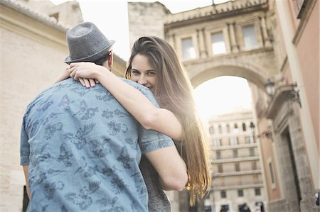 people and vacation - Romantic young couple embracing, Valencia, Spain Stock Photo - Premium Royalty-Free, Code: 649-07560103