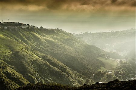 View of hills and dramatic sky, Laguna Beach, California, USA Stock Photo - Premium Royalty-Free, Code: 649-07560184