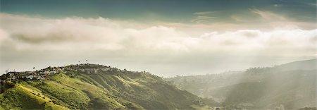 Panoramic view of hills and dramatic sky, Laguna Beach, California, USA Stock Photo - Premium Royalty-Free, Code: 649-07560180