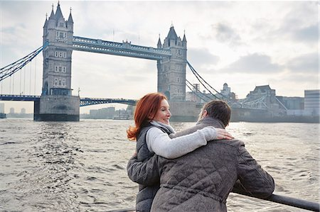 Mature tourist couple and Tower Bridge, London, UK Stock Photo - Premium Royalty-Free, Code: 649-07560255