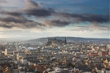 View of Edinburgh Castle from Salisbury Crags Stock Photo - Premium Royalty-Free, Code: 649-07560526