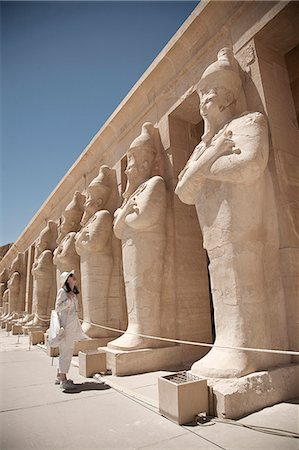 egypt - Statues at the Mortuary Temple of Queen Hatshepsut, Egypt Stock Photo - Premium Royalty-Free, Code: 649-07585374