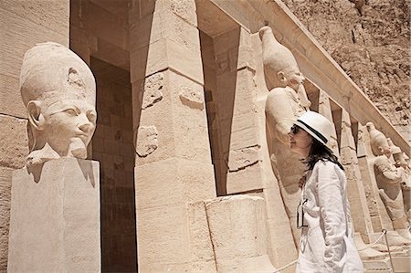 egypt - Statues at the Mortuary Temple of Queen Hatshepsut, Egypt Stock Photo - Premium Royalty-Free, Code: 649-07585376