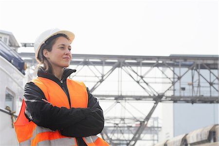staff - Portrait of female dockworker Stock Photo - Premium Royalty-Free, Code: 649-07596765