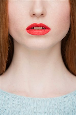 Cropped image of young woman's lips Stock Photo - Premium Royalty-Free, Code: 649-07647892