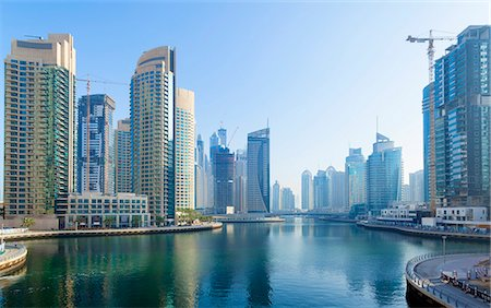 Dubai Marina at daytime, United Arab Emirates Stock Photo - Premium Royalty-Free, Code: 649-07710306