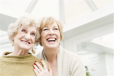 Senior woman with daughter, laughing Stock Photo - Premium Royalty-Free, Code: 649-07710595