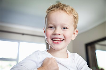 Portrait of smiling three year old boy Stock Photo - Premium Royalty-Free, Code: 649-07710651