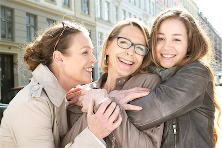 Portrait of three generation females in the city Stock Photo - Premium Royalty-Free, Code: 649-07710769