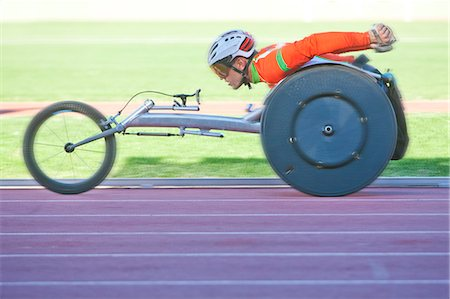 Athlete in para-athletic competition Stock Photo - Premium Royalty-Free, Code: 649-07736746