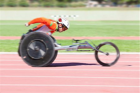 Athlete in para-athletic competition Stock Photo - Premium Royalty-Free, Code: 649-07736740