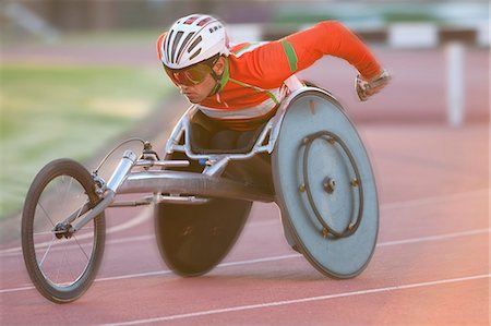 Athlete in para-athletic competition Stock Photo - Premium Royalty-Free, Code: 649-07736752
