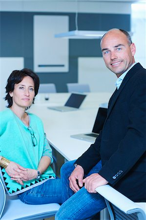 day - Portrait of two business people Stock Photo - Premium Royalty-Free, Code: 649-07761021