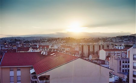 Elevated view of city, Nice, France Stock Photo - Premium Royalty-Free, Code: 649-07803555
