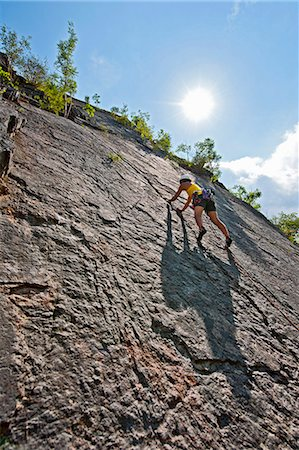 rock climber - Female climber, lead climbing, Halfway to Kansas at Fairy Cave Quarry Stock Photo - Premium Royalty-Free, Code: 649-07803942