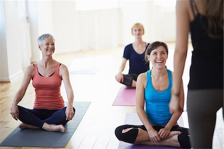 practise - Female students watching and listening to tutor in pilates class Stock Photo - Premium Royalty-Free, Code: 649-07905355