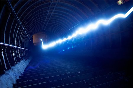 Light trail in tunnel Stock Photo - Premium Royalty-Free, Code: 649-08060845