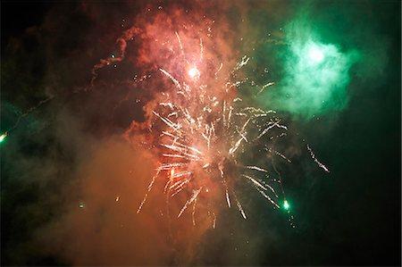 Firework display Stock Photo - Premium Royalty-Free, Code: 649-08060848