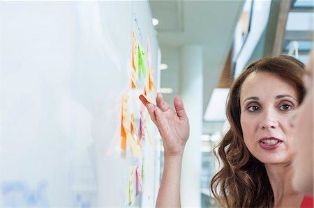 Businesswoman sharing ideas on office whiteboard Stock Photo - Premium Royalty-Free, Code: 649-08084687