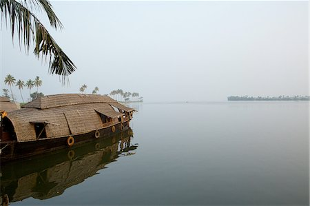 Rice boat on water, Kerala, India Stock Photo - Premium Royalty-Free, Code: 649-08085981