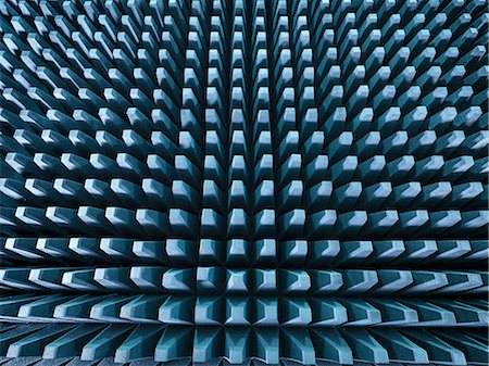 repeating - Anechoic chamber with radio frequency absorber material, close up Stock Photo - Premium Royalty-Free, Code: 649-08118484