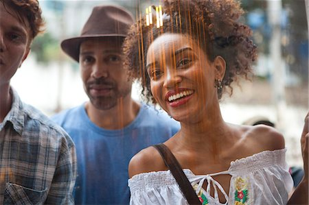 south american woman - Group of friends looking in shop window Stock Photo - Premium Royalty-Free, Code: 649-08125065