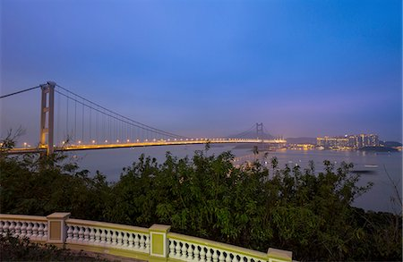 Tsing Ma Bridge, Hong Kong, China Stock Photo - Premium Royalty-Free, Code: 649-08145390