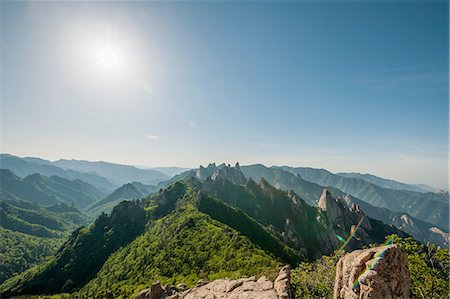 rugged landscape - Elevated view of rugged mountain ridge, Seoraksan National park, Gangwon, South Korea Stock Photo - Premium Royalty-Free, Code: 649-08145547