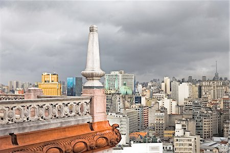 Corner detail of Martinelli building roof terrace, Sao Paulo, Brazil Stock Photo - Premium Royalty-Free, Code: 649-08180469