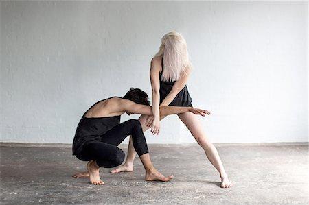 Dancers practising in studio Stock Photo - Premium Royalty-Free, Code: 649-08180642