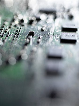 selective focus computer no people - Close up of mother board of laptop Stock Photo - Premium Royalty-Free, Code: 649-08238258