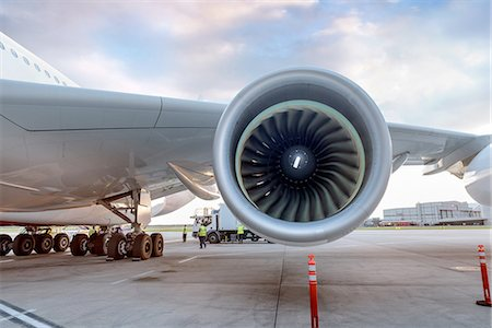 Detail of jet engine on A380 aircraft Stock Photo - Premium Royalty-Free, Code: 649-08328207