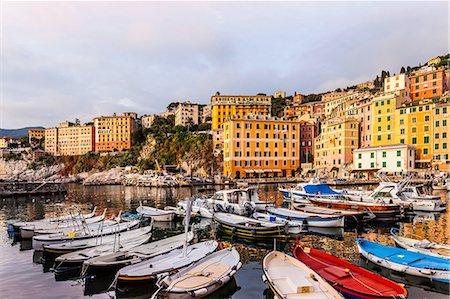 Fishing boats moored in harbour, Camogli, Liguria,  Italy Stock Photo - Premium Royalty-Free, Code: 649-08381767