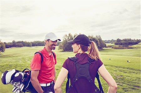 Golfers on course, Korschenbroich, Dusseldorf, Germany Stock Photo - Premium Royalty-Free, Code: 649-08422480