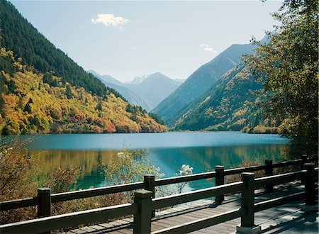 Panda Lake, Jiuzhaigou National Park, Sichuan Province, China Stock Photo - Premium Royalty-Free, Code: 649-08564422
