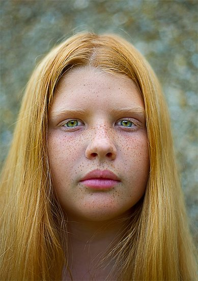 Portrait of teenage girl with red hair Stock Photo - Premium Royalty-Free, Image code: 649-08565453