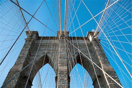 Brooklyn Bridge, Manhattan, New York City, USA Stock Photo - Premium Royalty-Free, Code: 649-08632599