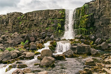 Oxararfoss, Thingvellir, Iceland Stock Photo - Premium Royalty-Free, Code: 649-08714848