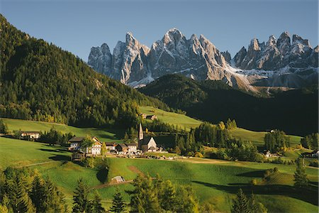 Santa Maddalena, Dolomite Alps, Val di Funes (Funes Valley), South Tyrol, Italy Stock Photo - Premium Royalty-Free, Code: 649-08840082