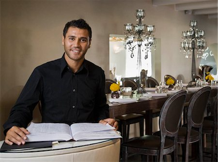planner - Portrait of a male host to a restaurant Stock Photo - Premium Royalty-Free, Code: 649-02665437