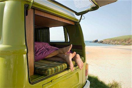 people having sex - Couple lying in camper van Stock Photo - Premium Royalty-Free, Code: 649-02666223