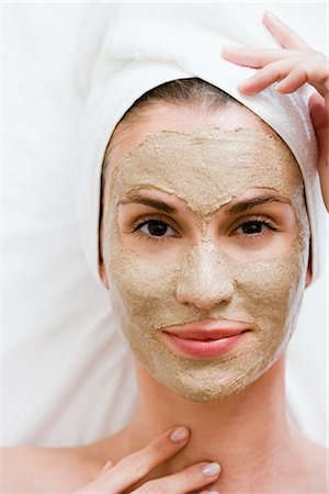 facial - Woman with face mask Stock Photo - Premium Royalty-Free, Code: 649-02731254