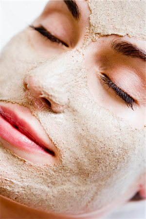 facial - Woman with face mask Stock Photo - Premium Royalty-Free, Code: 649-02731256