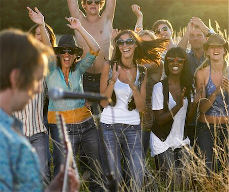 Concert in a field Stock Photo - Premium Royalty-Free, Code: 649-02731878