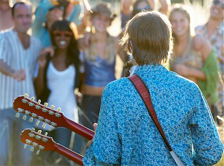 Concert in a field Stock Photo - Premium Royalty-Free, Code: 649-02731880