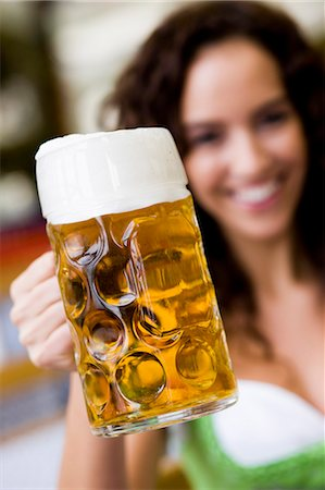 Young Woman With Glass Of Beer Stock Photo - Premium Royalty-Free, Code: 649-03008633