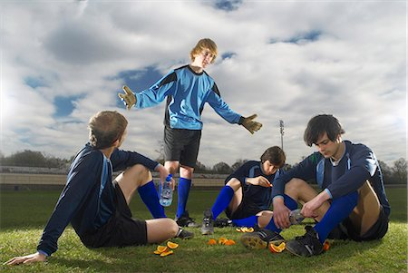 football team - goalkeeper and team mates Stock Photo - Premium Royalty-Free, Code: 649-03009836