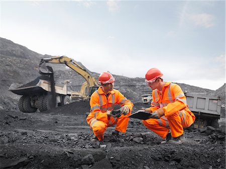 people working coal mines - Coal Miners Inspecting Coal Stock Photo - Premium Royalty-Free, Code: 649-03294075